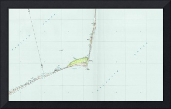 Cape Hatteras National Seashore Map (1985)