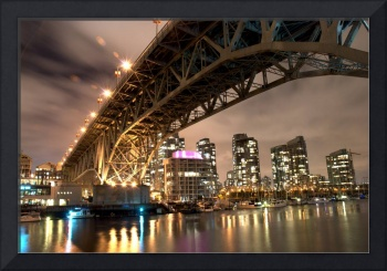 Granville Street Bridge at Night
