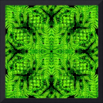 Green Fern Geometric