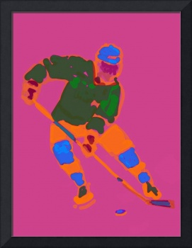 Hockey Left Wing purple orange green blue (c)