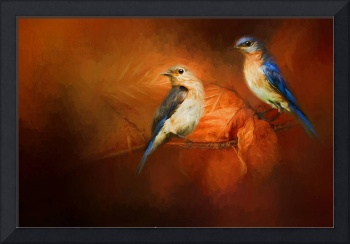 Autumn Blue Birds