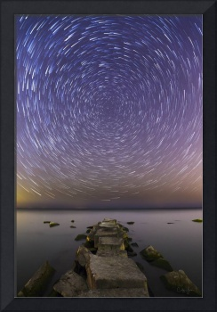 Star Trails Over Lake Erie by Cody York