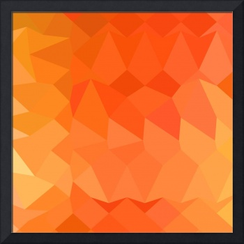 Spanish Orange Abstract Low Polygon Background