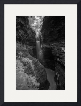 Watkins Glen in Infrared B&W by D. Brent Walton