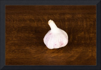 Organic garlic on table