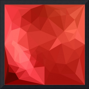 Tomato Red Abstract Low Polygon Background