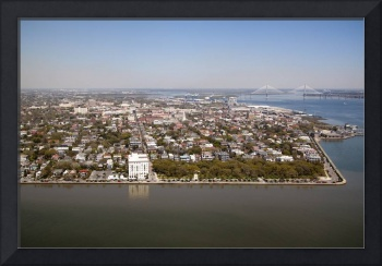Arial View of Historic Charleston South Carolina
