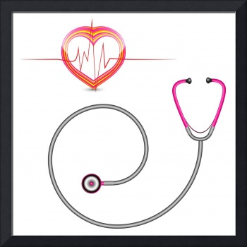 stethoscope and graph