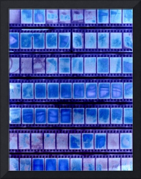 half frame contact sheet sun print chemical free
