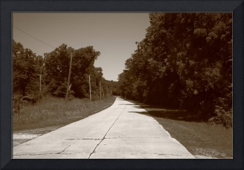 Missouri Route 66, 2012, Sepia.