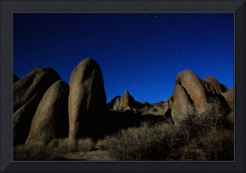 alabama hills by moonlight