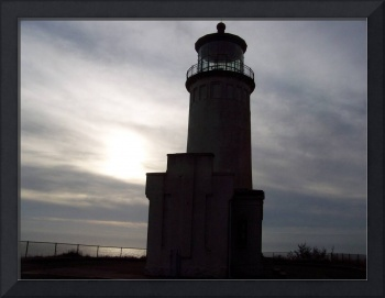 North Head Lighthouse in the shadows