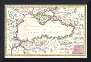 Vintage Map of The Black Sea (1747)