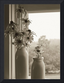 Farmhouse Window in Sepia