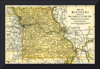Missouri Antique Map 1891