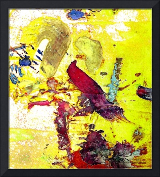Abstract Birds On Yellow