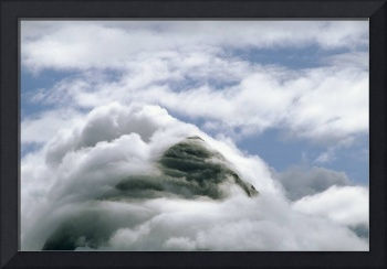 Mountain Peak Clouds Chugach Natl Forest Southcent