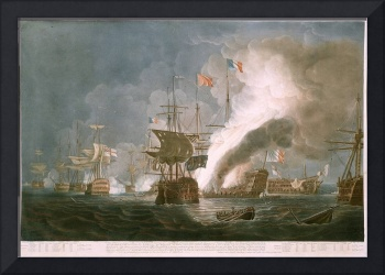 1799 depiction of the Battle of the Nile by Thomas
