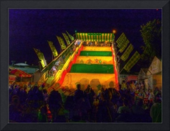 Giant Slide at Night