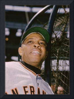 Willie Mays Outside the Batting Cage