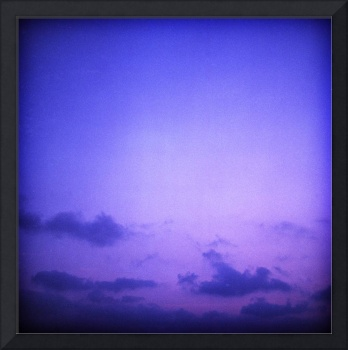 Clouds in sky in blue purple