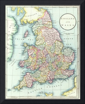 Map of England & Wales, 1852