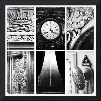 Royal Elements Collage - Black and White