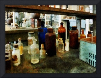 Assorted Chemicals in Bottles