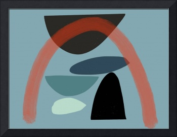 Abstract: Mid Century Modern Red Arch