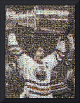 Gretzky raises the cup mosaic