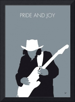 No087 MY Stevie Ray Vaughan Minimal Music poster