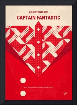 No913 My Captain Fantastic minimal movie poster