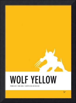 No21 My Minimal Color Code poster Wolverine