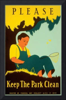 Please Keep the Park Clean Poster (1938)