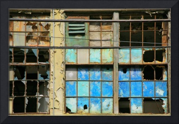 Blue Factory Window