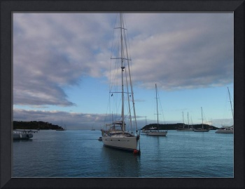 Yachts Anchored In Antigua