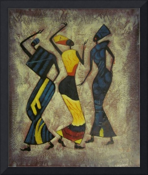 Three Women - Oil Painting On Canvas - 0412
