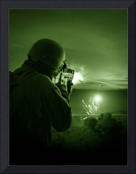 Night vision view of a special operations forces s