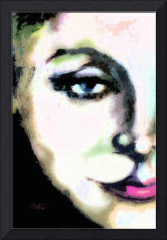 Greta Garbo Macro Modern Art Painting by Ginette