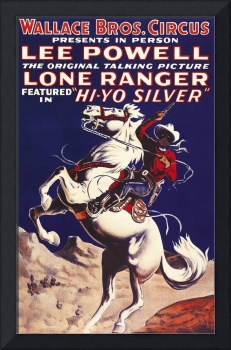 Wallace Bros. Circus Lone Ranger Vintage Poster