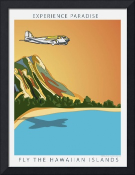 Fly Hawaii by Kent Air Art