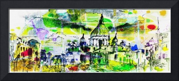 Abstract Saint Peter Basilica Rome Italy