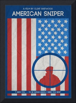 American Sniper Minimalist Movie Poster 2