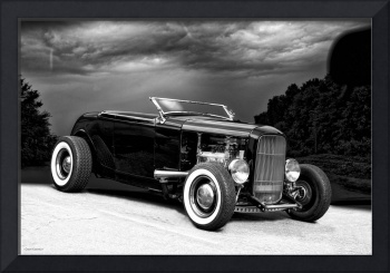 1932 Ford Black and White Roadster I