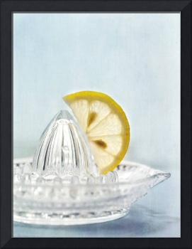 still life with a half slice of lemon