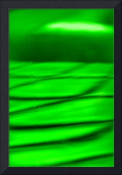 Macro Green Soap Bubble Shadows