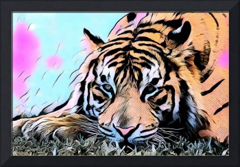 Tiger Comic Pop Art
