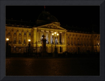 Royal Palace at Night in Brussels
