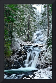 Winter at Paradise River's Washington Cascades