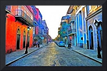 New Orleans Street in Photo Paint